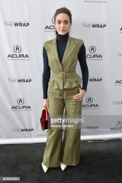 Actor Emmy Rossum of 'A Futile and Stupid Gesture' attends the Acura Studio at Sundance Film Festival 2018 on January 22 2018 in Park City Utah