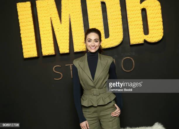 Actor Emmy Rossum of 'A Futile and Stupid Gesture' attends The IMDb Studio and The IMDb Show on Location at The Sundance Film Festival on January 22...