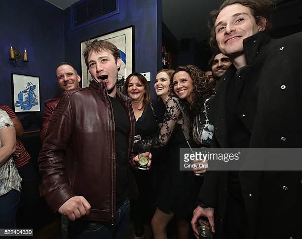 Actor Emory Cohen actress Zoey Deutch and director Daniel Kruglikov attend the 2016 Tribeca Film Festival after party for Vincent N Roxxy at Black...