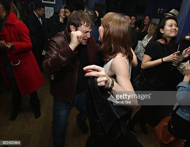 Actor Emory Cohen attends the 2016 Tribeca Film Festival after party for Vincent N Roxxy at Black Market on April 19 2016 in New York City