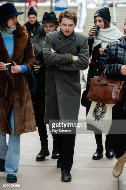 Actor Emory Cohen walks in Park City on January 22 2018 in Park City Utah