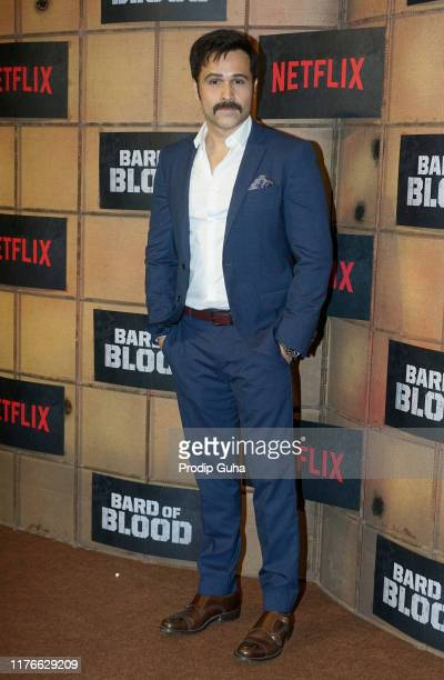 Actor Emraan Hashmi attends the screening of Netflix new web series Bard of Blood on September 23 2019 in Mumbai India