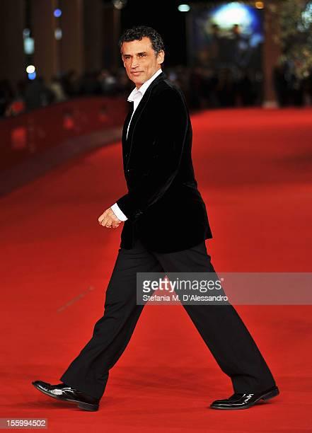 Actor Enrico Lo Verso attends the Il Turno Di Notte Lo Fanno Le Stelle Premiere during the 7th Rome Film Festival at the Auditorium Parco Della...