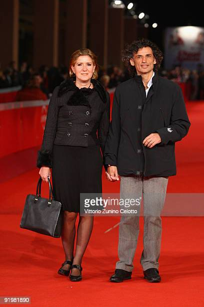Actor Enrico Loverso and wife attend 'The Last Station' Premiere during day 4 of the 4th Rome International Film Festival held at the Auditorium...