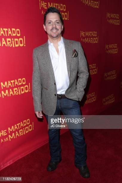 Actor Enrique Sapene attends 'HE MATADO A MI MARIDO' Los Angeles Premiere at Harmony Gold Theatre on February 26 2019 in Los Angeles California
