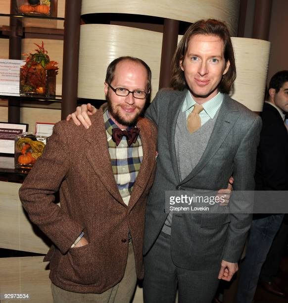 Actor Eric Anderson and brother director Wes Anderson attend the after party for the premiere of Fantastic Mr Fox at Rouge Tomate on November 10 2009...
