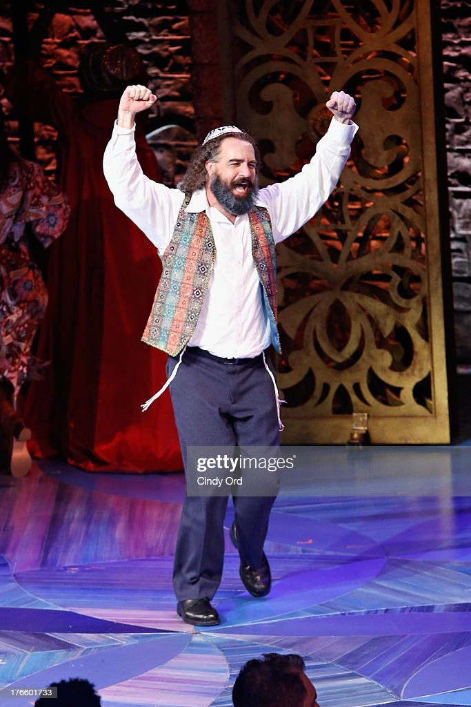 Actor Eric Anderson participates in the curtain call for the Broadway opening night of 'Soul Doctor' at the Circle in the Square Theatre on August 15, 2013 in New York City.