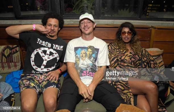Actor Eric Andre and musicians Diplo and MIA hang out at the after party for the premiere of Abramorama's 'Matangi/Maya/MIA' at The Theatre at Ace...