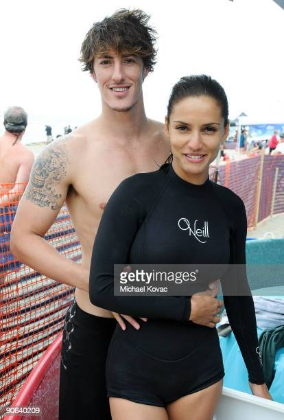 Actor Eric Balfour and girlfriend actress Leonor Varela attend the 4th Annual Surfrider Foundation Celebrity Expression Session at First Point...