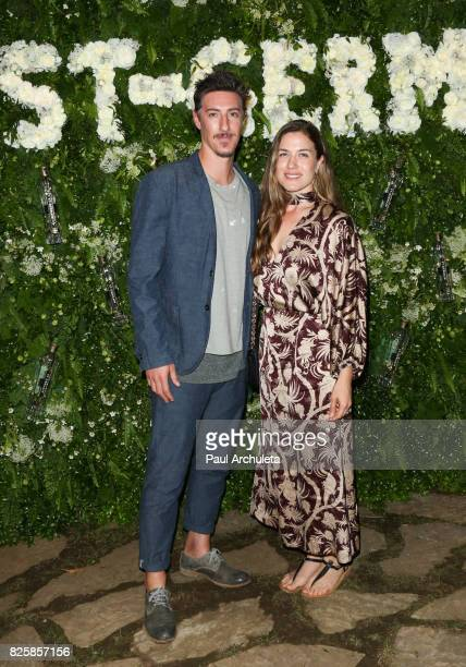 Actor Eric Balfour and his Wife Erin Chiamulon attend the Maison StGermain LA debut on August 2 2017 in Los Angeles California
