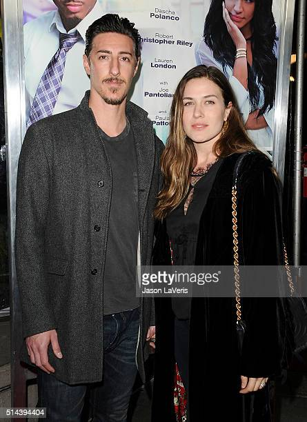 Actor Eric Balfour and wife Erin Chiamulon attend the premiere of 'The Perfect Match' at ArcLight Hollywood on March 7 2016 in Hollywood California