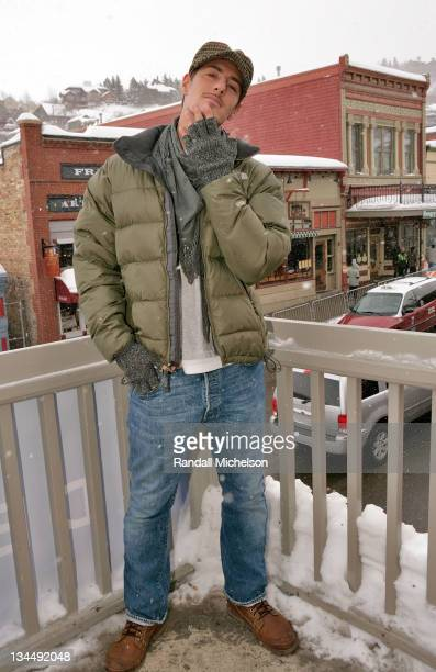Actor Eric Balfour of 'Hell Date' poses at the Sky 360 Delta Loungel on January 24 2008 in Park City Utah