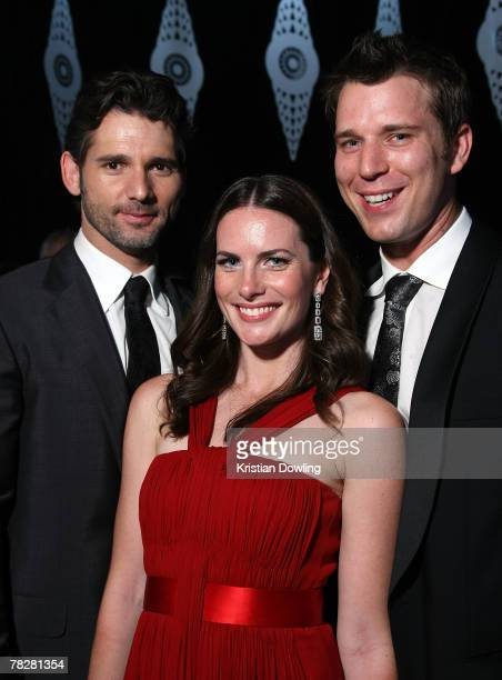 Actor Eric Bana actress Jolene Anderson and her partner pose at the after party following the L'Oreal Paris 2007 AFI Awards Dinner at the Melbourne...