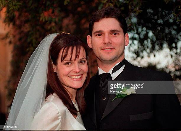 Actor Eric Bana after his wedding to Rebecca Gleeson at St Joan of Arc Church Brighton in Melbourne