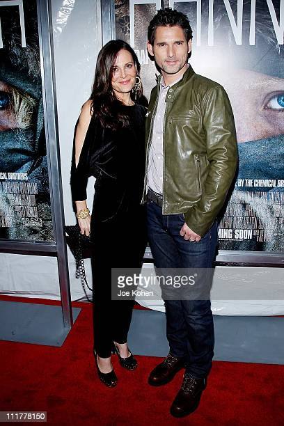 Actor Eric Bana and his wife Rebecca Gleeson attend the New York screening of Hanna at Regal Union Square on April 6 2011 in New York City