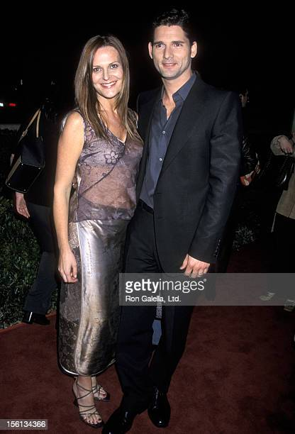 Actor Eric Bana and Rebecca Gleeson attending the premiere of 'Black Hawk Down' on December 18 2001 at the Academy Theater in Beverly Hills California