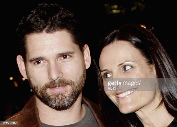 Actor Eric Bana and wife Rebecca Gleeson attend the premiere of the movie Bobby held at the Odeon West End on October 26 2006 in London England