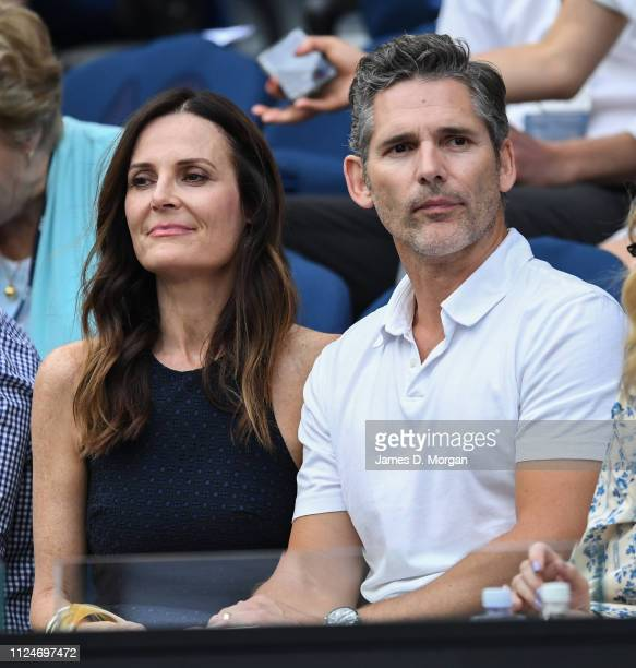 Actor Eric Bana with his wife Rebecca Gleeson as they attend day 12 of the 2019 Australian Open at Melbourne Park on January 25 2019 in Melbourne...