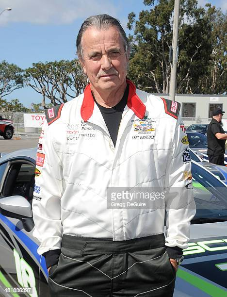 Actor Eric Braeden arrives at press day for the 2014 Toyota Pro/Celebrity Race on April 1 2014 in Long Beach California