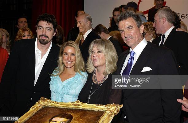 Actor Eric Braeden Dale Gudegast Stacey Gudegast and Christian Gudegast celebrate Braeden's 25th anniversary playing legendary character Victor...