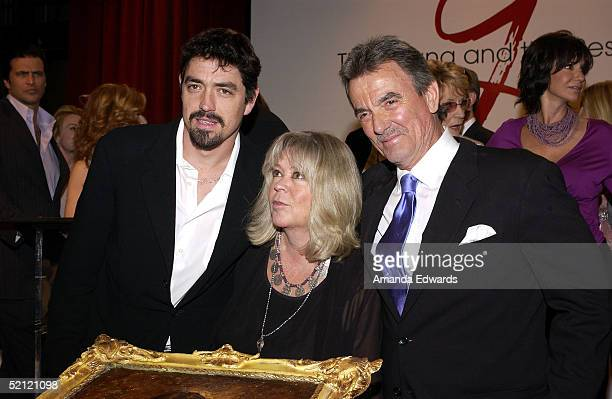 Actor Eric Braeden his wife Dale and their son Christian celebrate Braeden's 25th anniversary playing legendary character Victor Newman on The Young...