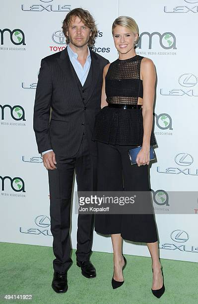 Actor Eric Christian Olsen and actress Sarah Wright arrive at Environmental Media Association Hosts Its 25th Annual EMA Awards Presented By Toyota...