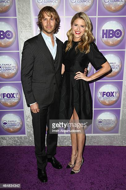 Actor Eric Christian Olsen and actress Sarah Wright attend the Family Equality Council's Los Angeles Awards Dinner at The Beverly Hilton Hotel on...