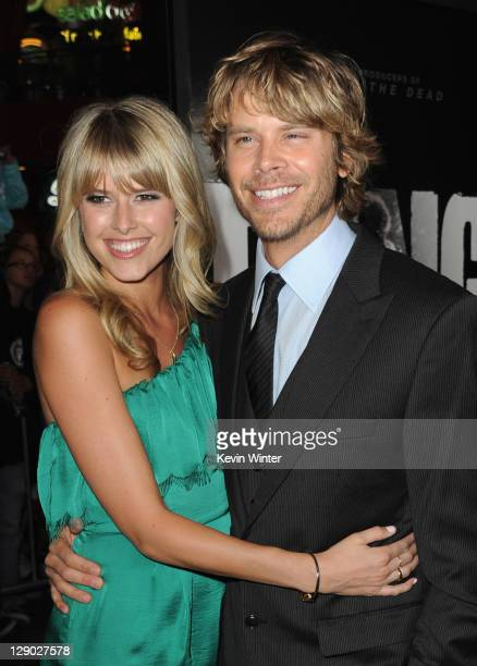 Actor Eric Christian Olsen and Sarah Wright arrive at the premiere of Universal Pictures' The Thing at Universal Studios Hollywood on October 10 2011...