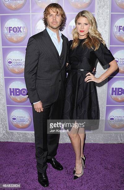 Actor Eric Christian Olsen and wife actress Sarah Wright arrive at the Family Equality Council's Los Angeles Awards Dinner at The Beverly Hilton...
