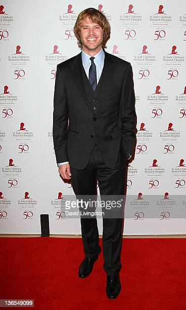 Actor Eric Christian Olsen attends the 50th anniversary celebration for St Jude Children's Research Hospital at The Beverly Hilton hotel on January 7...