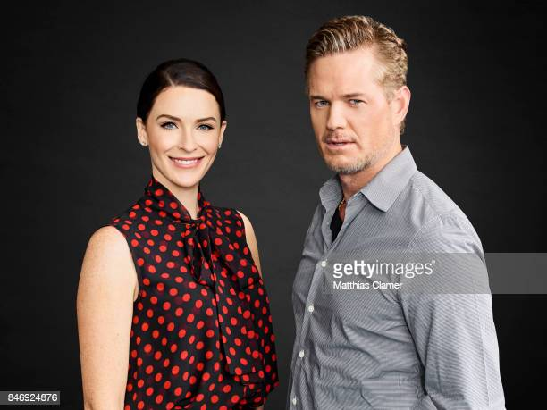 Actor Eric Dane and actress Bridget Regan from 'The Last Ship' are photographed for Entertainment Weekly Magazine on July 21 2016 at Comic Con in the...