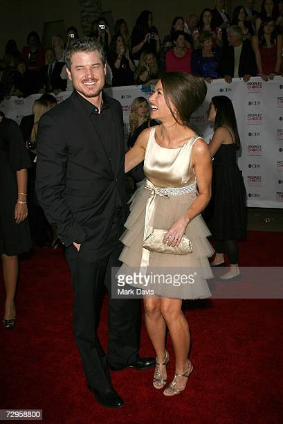 Actor Eric Dane and actress Rebecca Gayheart arrive at the 33rd Annual People's Choice Awards held at the Shrine Auditorium on January 9 2007 in Los...
