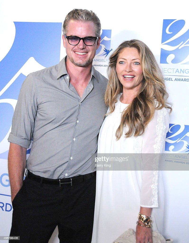 Actor Eric Dane and actress Rebecca Gayheart arrive for Project Angel Food Celebrates 25 Years With 2014 Angel Awards at Project Angel Food on September 6, 2014 in Los Angeles, California.