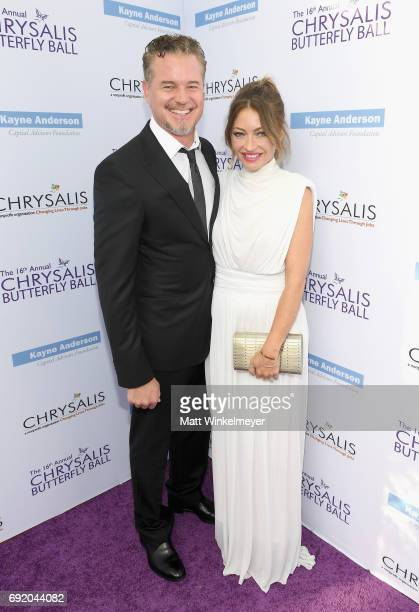 Actor Eric Dane and Chrysalis Butterfly Ball Cochair Rebecca GayheartDane at the 16th Annual Chrysalis Butterfly Ball on June 3 2017 in Los Angeles...