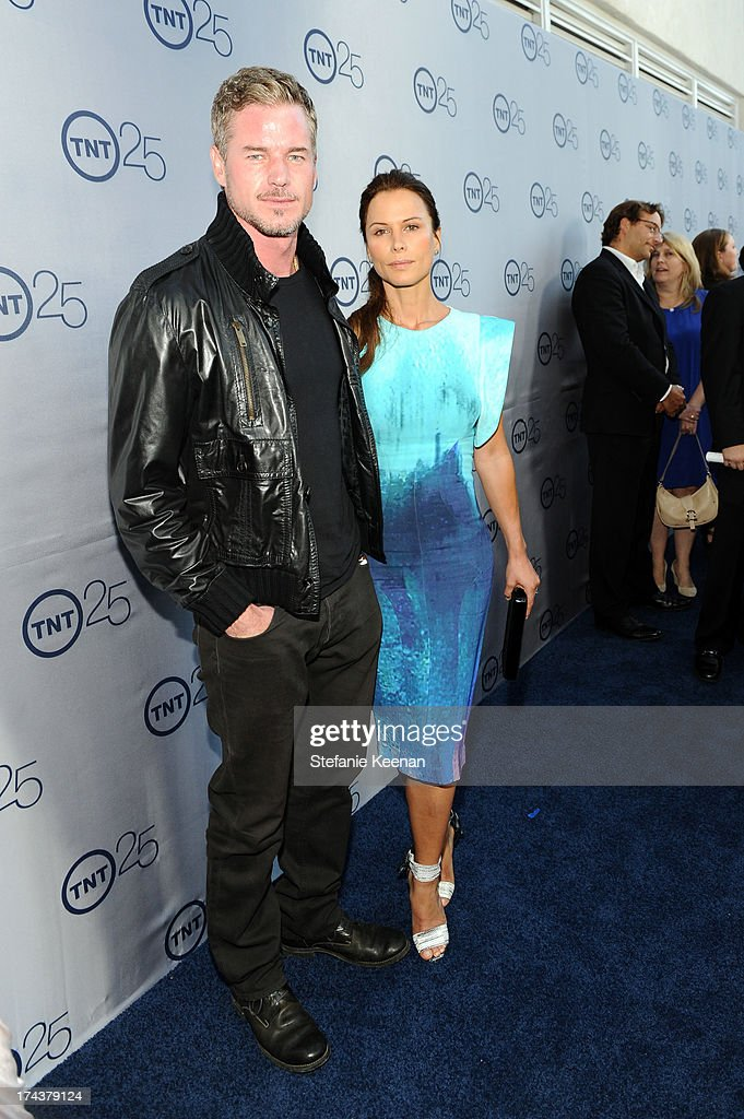 Actor Eric Dane and Rhona Mitra attend TNT 25TH Anniversary Party during Turner Broadcasting's 2013 TCA Summer Tour at The Beverly Hilton Hotel on July 24, 2013 in Beverly Hills, California.