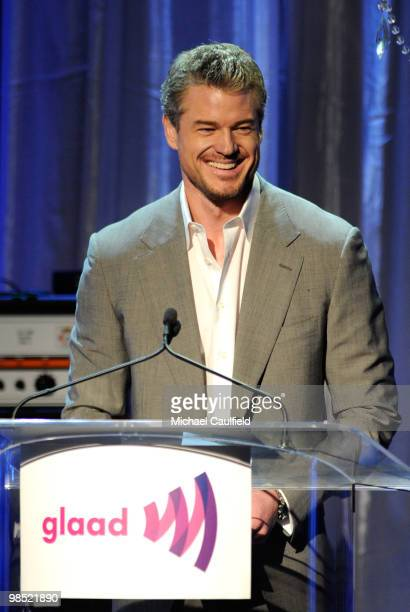 Actor Eric Dane onstage at the 21st Annual GLAAD Media Awards held at Hyatt Regency Century Plaza Hotel on April 17, 2010 in Los Angeles, California.