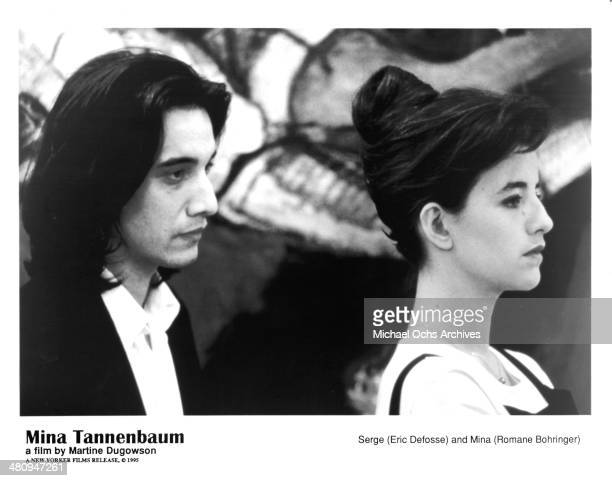 Actor Eric Defosse and actress Romane Bohringer in a scene from the movie 'Mina Tannenbaum' circa 1994
