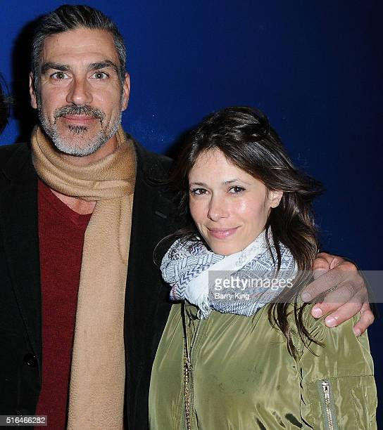 Actor Eric Etebari and Angela Gots attend the premiere of Red Compass Media's 'The Lost Tree' at Laemmle NoHo 7 on March 18 2016 in North Hollywood...