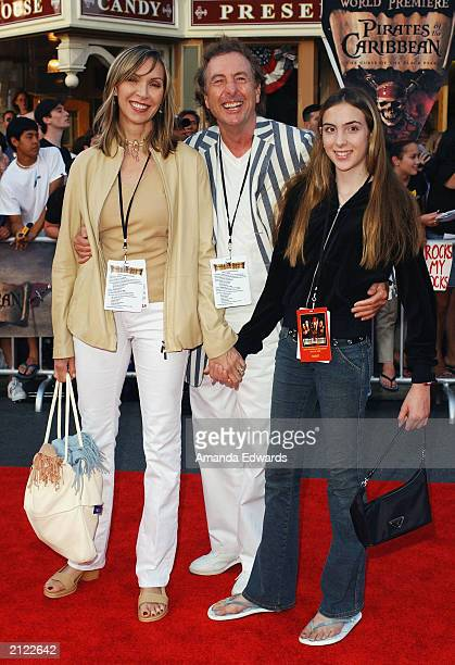 Actor Eric Idle his wife Tania and their daughter Lilly arrive at the World Premiere of Pirates of the Caribbean The Curse of the Black Pearl on June...