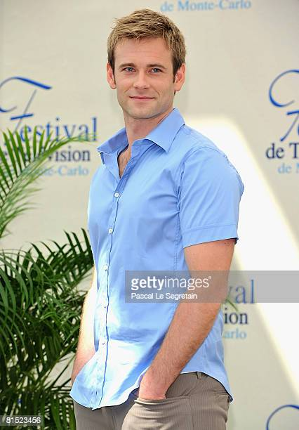 """Actor Eric Johnson attends a photocall promoting the television series """"Flash Gordon"""" on the fourth day of the 2008 Monte Carlo Television Festival..."""