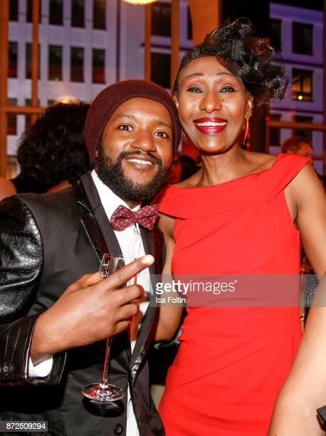 Actor Eric Kabongo and guest attend the GQ Men of the year Award 2017 after show party at Komische Oper on November 9 2017 in Berlin Germany