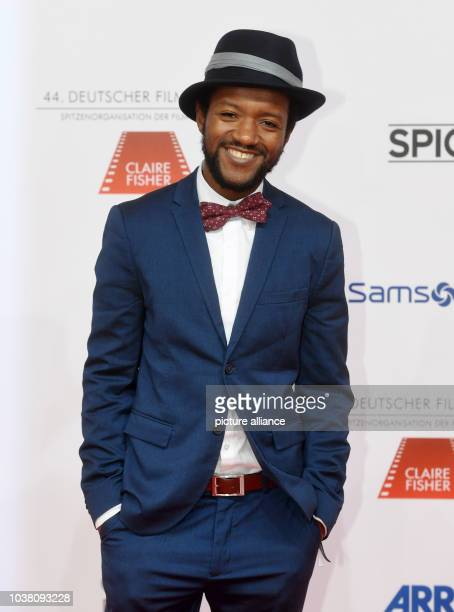 Actor Eric Kabongo arriving at the 44th German Film Ball in the Hotel Bayerischer Hof in Munich Germany 21 January 2017 Photo Tobias Hase/dpa | usage...