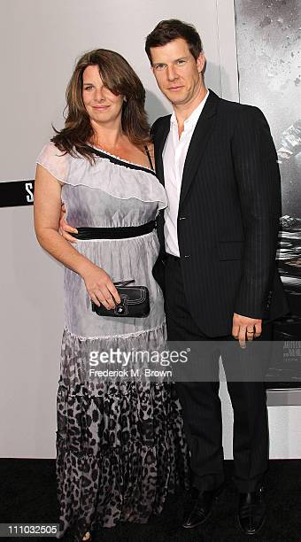 Actor Eric Mabius and his wife Ivy Sherman attend the premiere of Summit Entertainment's Source Code at the Arclight Cinerama Dome on March 28 2011...