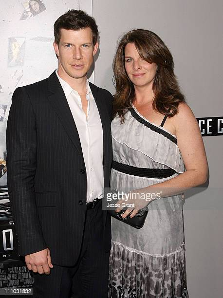Actor Eric Mabius and Ivy Sherman arrive at the Source Code Los Angeles Premiere held at ArcLight Cinemas on March 28 2011 in Hollywood California