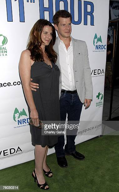 Actor Eric Mabius and wife Ivy Sherman arrive at the premiere of Warner Independent's The 11th Hour at the ArcLight Cinema on August 8 2007 in...