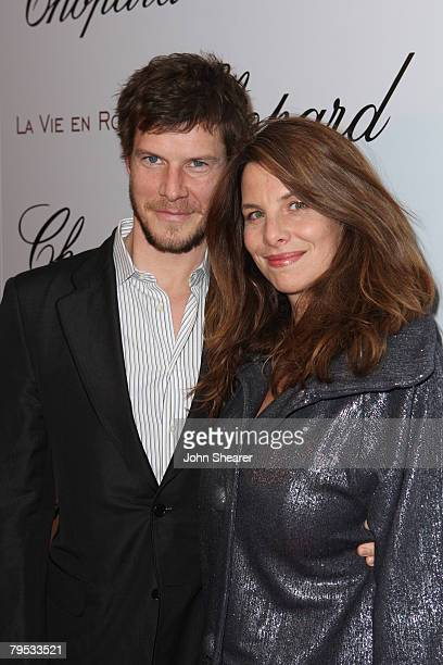 Actor Eric Mabius and wife Ivy Sherman attend an evening celebration hosted by Chopard and Picturehouse for Academy Award nominee Marion Cotillard at...