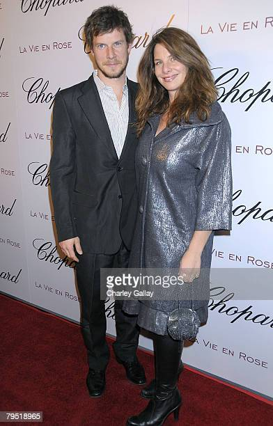 Actor Eric Mabius and wife Ivy Sherman attend Chopard and Picturehouse's celebration of Oscar nominee Marion Cotillard at the Chateau Marmont on...