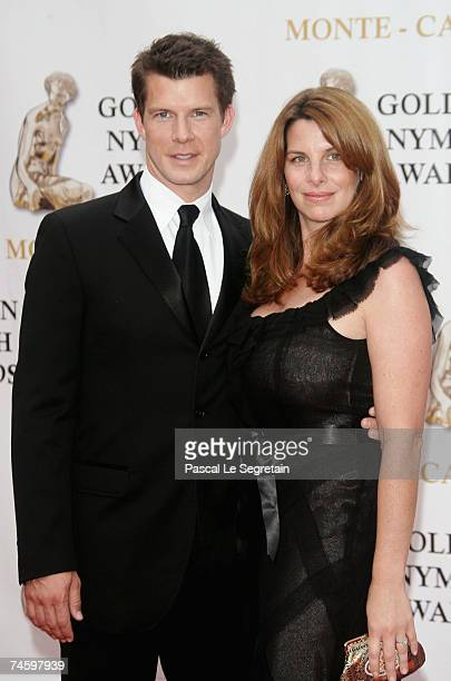 Actor Eric Mabius and wife Ivy Sherman attend the 2007 Monte Carlo Television Festival closing ceremony held at Grimaldi Forum on June 14 2007 in...