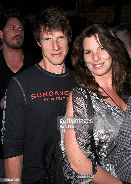 Actor Eric Mabius and wife Ivy Sherman attend the season 3 premiere of HBO's 'Eastbound And Down' at cinespace on February 9 2012 in Hollywood...