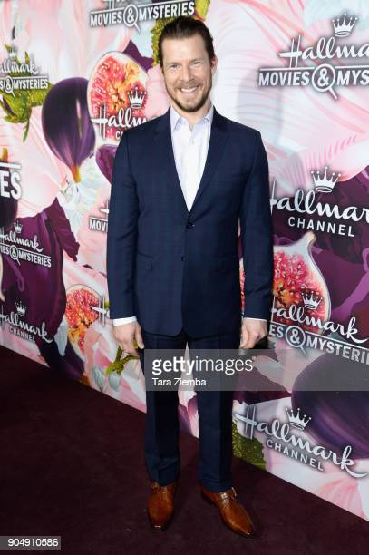 Actor Eric Mabius attends Hallmark Channel and Hallmark Movies and Mysteries Winter 2018 TCA Press Tour at Tournament House on January 13 2018 in...